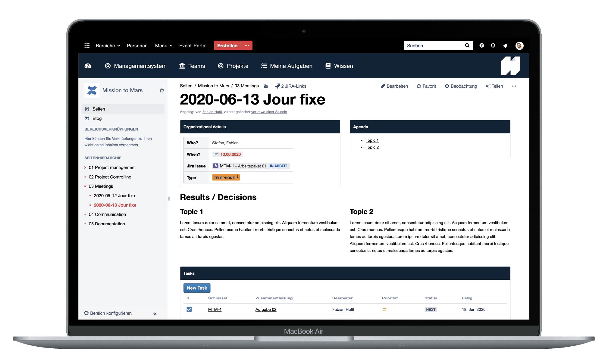 Atlassian-Projekte-Jourfixe