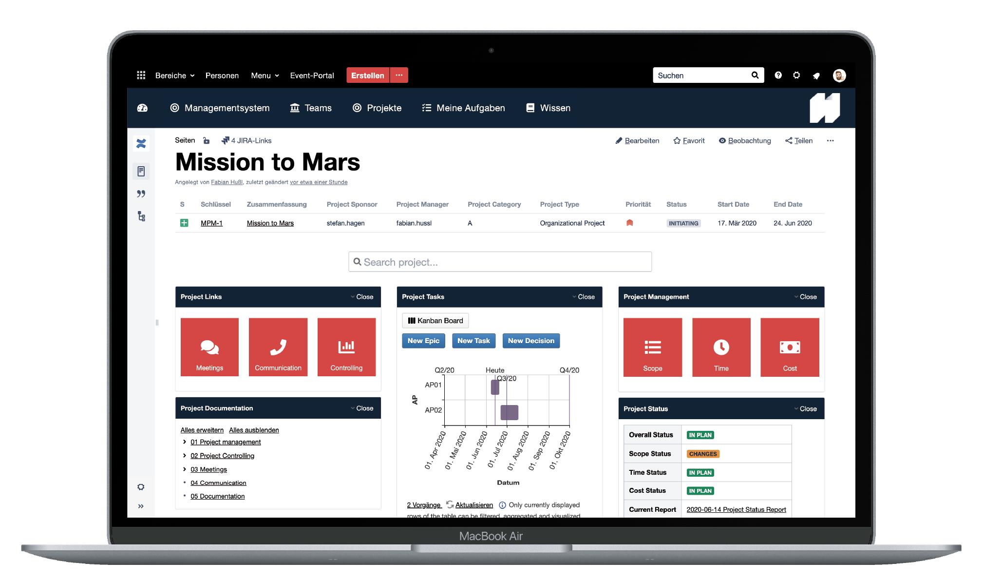 Atlassian-Projekte-Mission