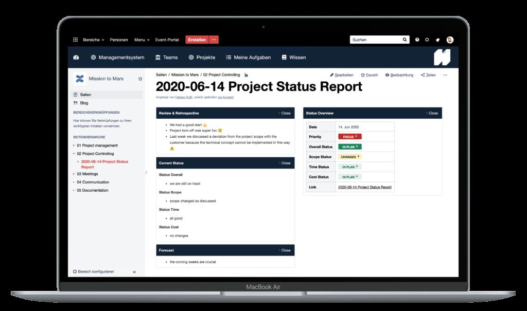 Atlassian-Projekte-Status